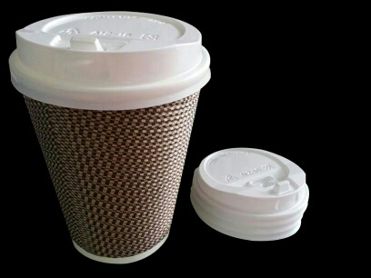 COFFEE TO GO HOT CUP WITH SIP LID, TWEED DESIGN
