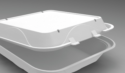 LB 2 VentedFoam Food Container